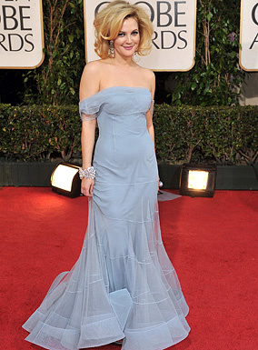 Actress Drew Barrymore arrives at the 66th Annual Golden Globe A