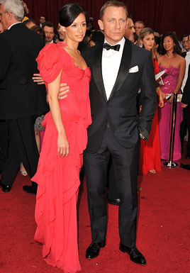 Actor Daniel Craig (R) and Satsuki Mitchell arrives at the 81st