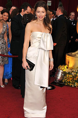 Actress Jessica Biel arrives at the 81st Annual Academy Awards h