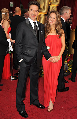 Actor Robert Downey Jr. and guest arrive at the 81st Annual Acad