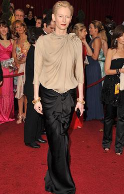 Actress Tilda Swinton arrives at the 81st Annual Academy Awards