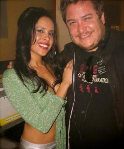 With actress Carmen Perez
