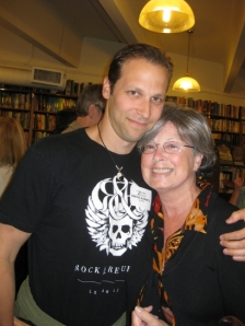 Hurwitz, in said skull tee, with friend Betsy Little, photo by: Vee Scott