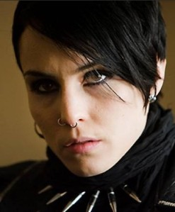 Danish actress Noomi Rapace as Lisbeth
